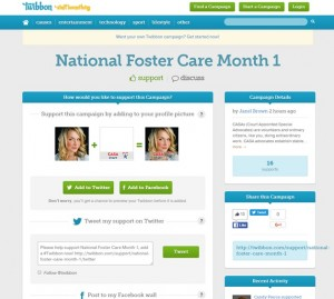 Child advocates show their support for National Foster Care Month